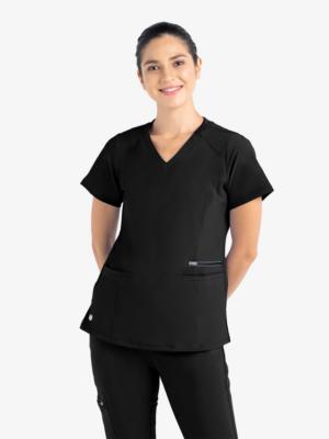 bizfete-apparel-women -active-fashion-top-black